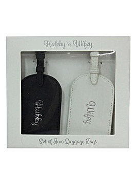 Hubby & Wifey Luggage Tags Set 2