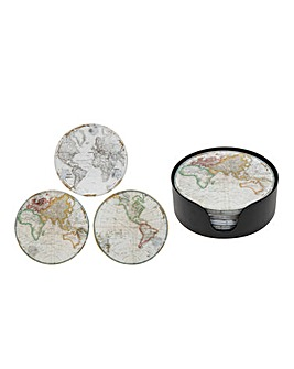 Set 6 World Map Coasters