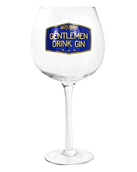 Gentlemen Drink Gin Glass