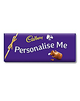 Personalised 850g Cadbury Chocolate Bar