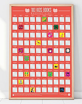 100 Kids Books Scratch Off Poster