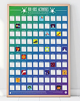 100 Kids Activites Scratch Off Poster