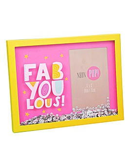 Fabyoulous Neon Shaker Photo Frame