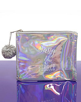 Pearlescent Sass & Fierce Cosmetics Bag