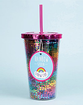 Rainbow Sequin Drinking Cup