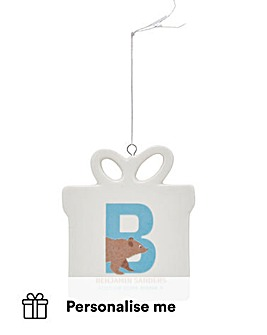 Personalised Initial Hanging Present