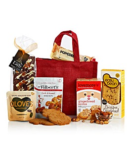 Gluten & Wheat Free Jute Bag Hamper