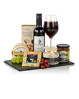 Wine Cheese Slate Gift
