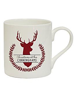 Personalised Family Name Stag Mug