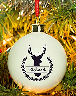 Personalised Stag Bauble