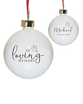 Personalised Memory Bauble