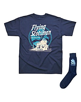 Flying Scotsman Tshirt & Socks Gift Set