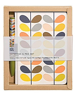 Orla Kiely Multi Stem Notebook & Pen