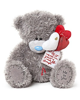 Me To You Plush with Heart Balloons