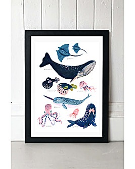 East End Prints Sea Creatures by Amber Davenport Art Print