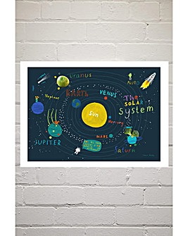 East End Prints Placemat Space by Hanna Melin Art Print