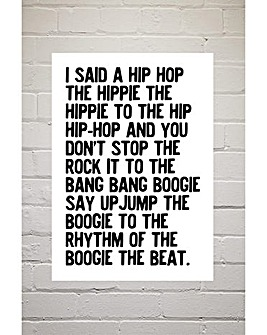 East End Prints Rapper's Delight by Honeymoon Hotel Art Print