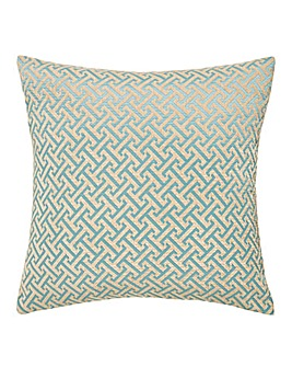 Jaquard Lattice Chenille Cushion