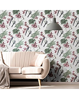 Utopia Grey Floral W/Paper