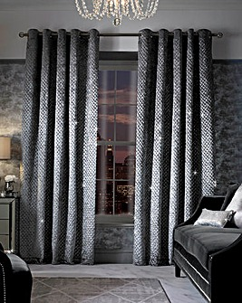 Kylie Grazia Lined Eyelet Curtains