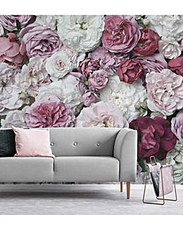Bouquet Blush Wall Mural