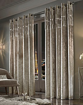 Kylie Veda Lined Eyelet Curtains