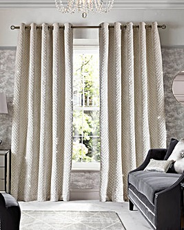 Kylie Grazia Long Lined Eyelet Curtains