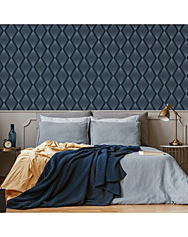 Chandelier Navy Geometric W/Paper