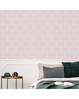 Chandelier Pink Geometric W/Paper