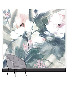 Art for the Home Expressive Floral Pastel Mural