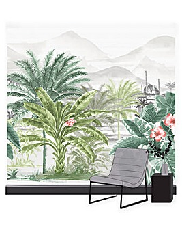 Art for the Home Tropical Forest Multicolour Mural