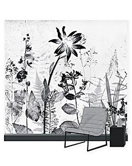 Flower Press Sketch Wall Mural