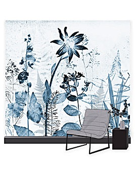 Flower Press Ink Wall Mural