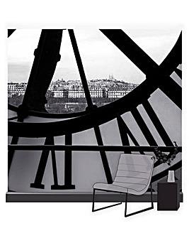 Art for the Home Orsay Clock Multicolour Mural