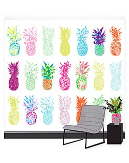 Pineapple Brights Wall Mural