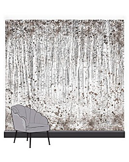 Art for the Home Painterly Woods Shadow Mural