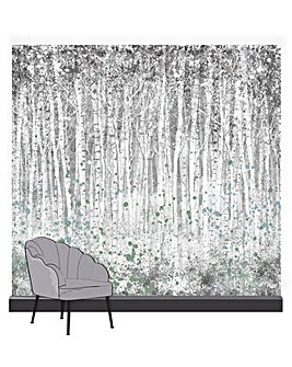 Art for the Home Painterly Woods Neutral Mural