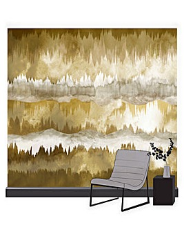The Horizon Ochre Wall Mural