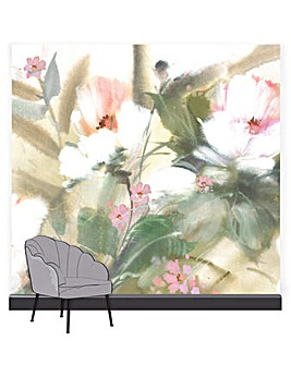 Art for the Home Expressive Floral Lush Mural