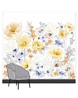 Art for the Home Fleur Summer Pink Floral Mural