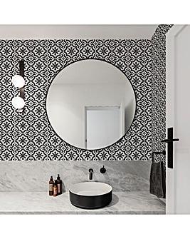 Contour Antibac Grecian Black Tilted Wallpaper