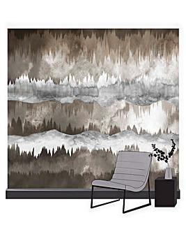 The Horizon Taupe Wall Mural