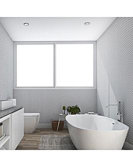 Contour Antibac Hexagon White Lattice Wallpaper