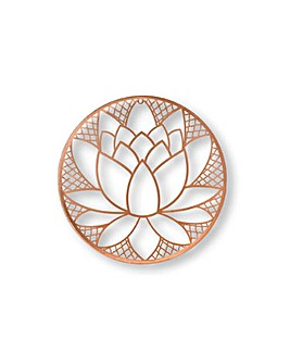 Art for the Home Lotus Blossom Metal Wall Art