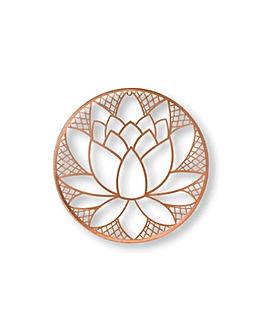 Art for the Home Lotus Blossom Metal Wall Art