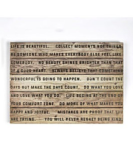 Art for the Home Life is Beautiful Print on Wood Wall art