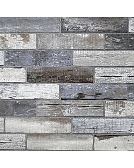 Arthouse Rustic Wood Neutral Wallpaper