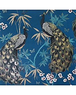 Arthouse Opulent Peacock Teal & Gold Wallpaper