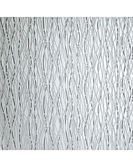Arthouse Twist Silver Wallpaper