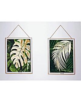 Arthouse Tropical Framed Prints Set of 2